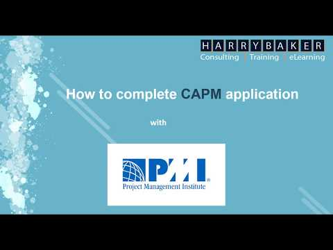 How to Complete CAPM Application - YouTube