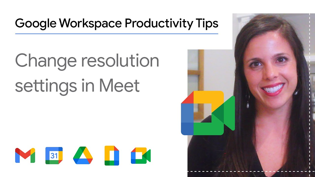 Struggling with delays or connection issues in your virtual meetings? In this episode of Google Workspace Productivity Tips, we show you how to change the resolution settings in Google Meet.