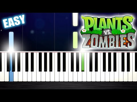 Plants vs. Zombies - EASY Piano Tutorial by PlutaX
