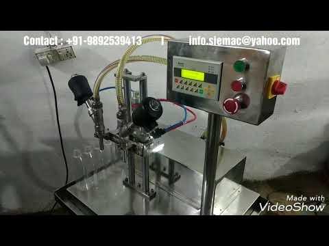 Semi-Automatic 2 Head Liquid Filling Machine