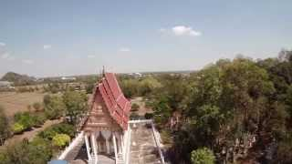 preview picture of video 'FPV Quadcopter - TBS Discovery - Wat Nong Hoi - Wat Khao Chong Phran - Thailand - Dragon Link'