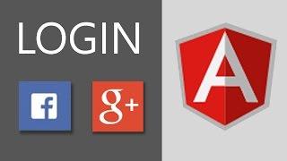 AngularJS Tutorial - Login with Google and Facebook Web Api