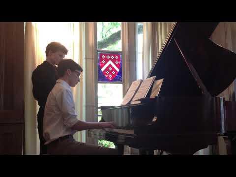 Performing Felix Mendelssohn's Piano Concerto no.2 in D Major, op. 40, at the age of 15.