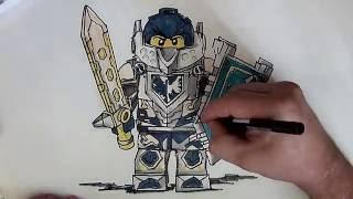 How to Draw Clay Morington from Nexo Knights (LEGO)