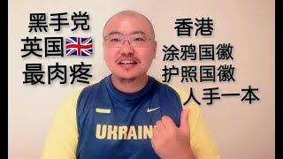 香港721涂鸦国徽 港人护照人手一本国徽 大陆人隔岸观火就好 英国肉最疼 治理香港不能缺失黑社会