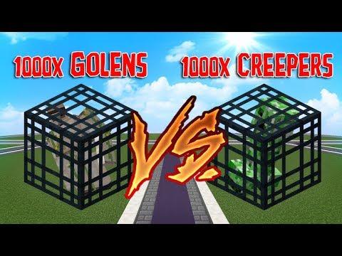 1 BILHÃO & 1000 GOLENS  vs 1000 CREEPERS NEXT RANKUP #5 -Dlet-