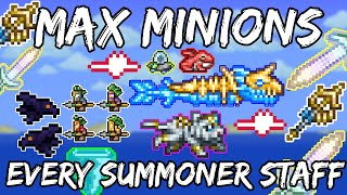 Max Minions With Every Staff - Terraria 1.4