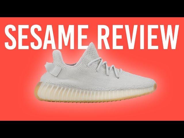 Neu Adidas Yeezy Boost 350 V2 Sesame On Feet Sneaker Review