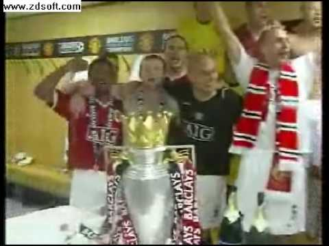 Man Utd - Dressing Room Celebrations - 06/07 Season