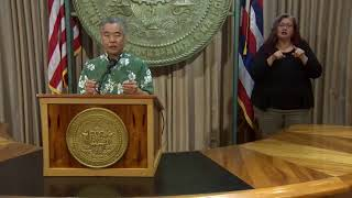 Governor Ige provides update on  reopening Hawaii