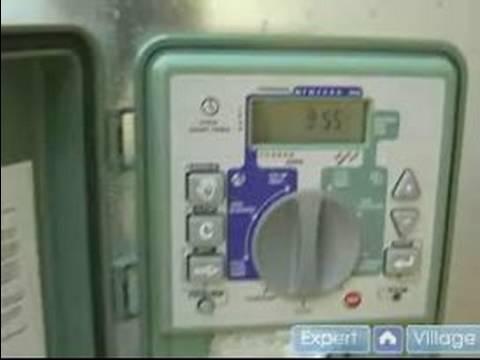 How to Install a Sprinkler System : How to Set Times on Sprinkler Controller