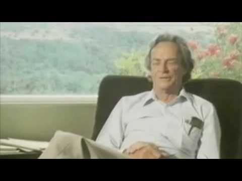 Feynman conta de como se acostumou desde criança a aplicar um dos testes de interpretação ao que lia