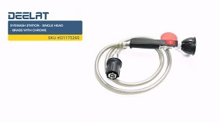 Eyewash Station - Single Head - Brass with Chrome SKU #D1173265