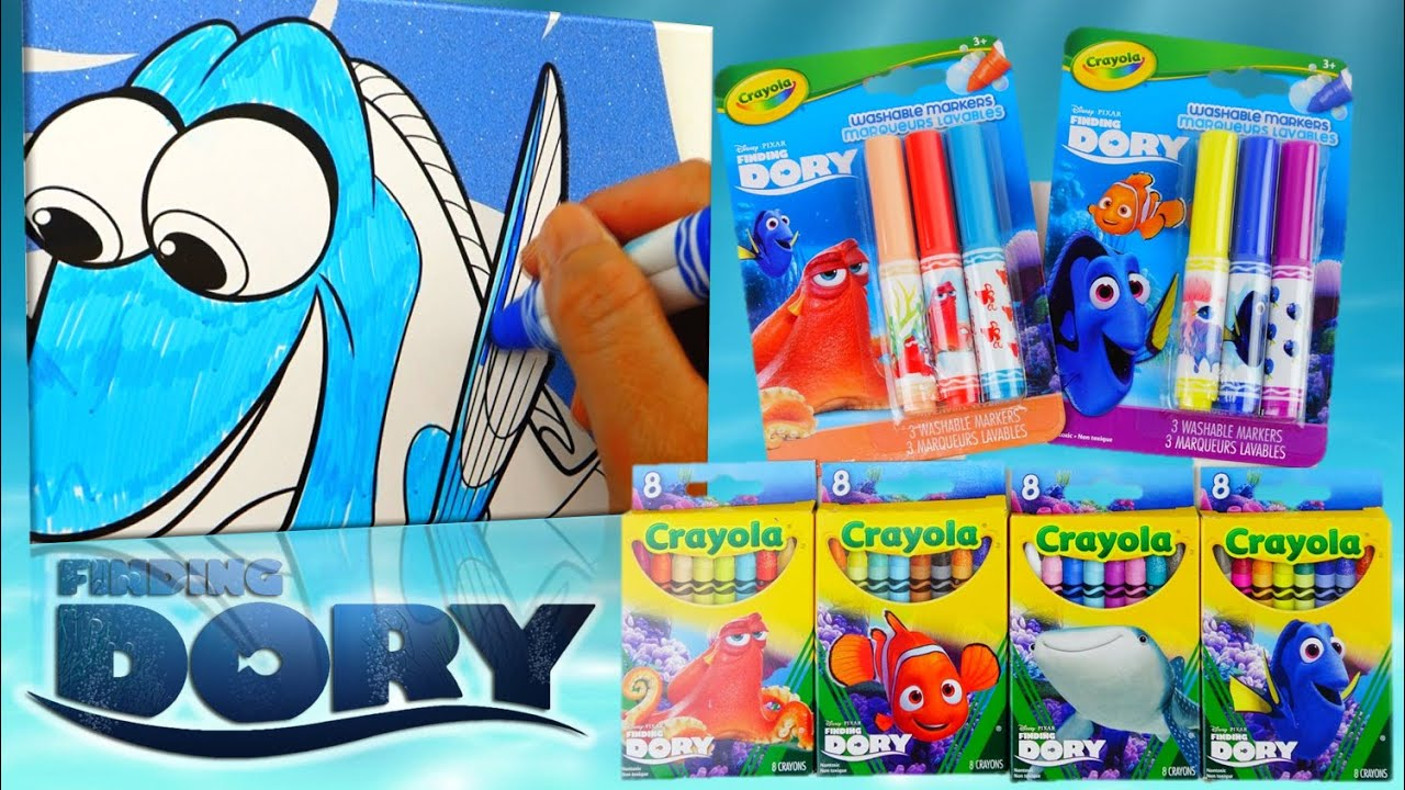 Finding Dory Markers and Crayons - Coloring Poster Book