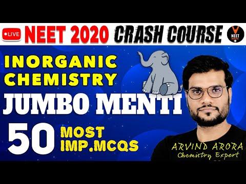 Revise Full Inorganic Chemistry MCQs for NEET 2020 Preparation ...
