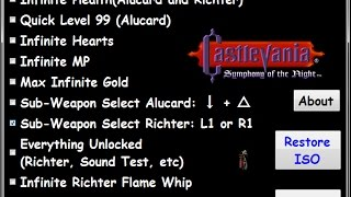 Castlevania SOTN Hacks