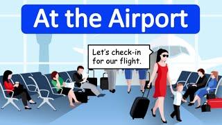 Airport Conversation in English 🛩    Learn through conversation