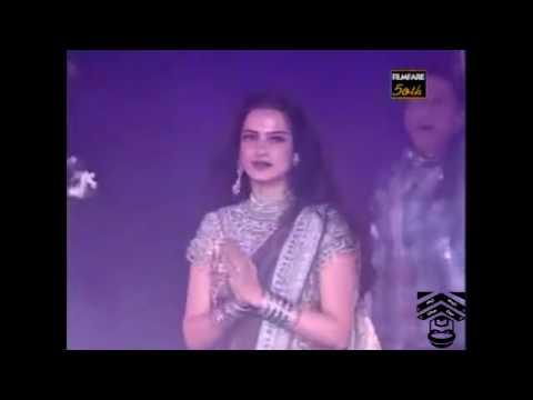 50th FilmFare m Rekha k Sath Jabardasti Dance