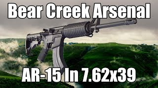 Bear Creek Arsenal AR-15 Rifle, 7.62x39 Caliber, Flat Top and Hard Case
