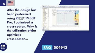 FAQ 004942 | After the design with RF‑/TIMBER Pro, I optimized a cross-section. Why is the utilization of the optimized cross-section exceeded now?