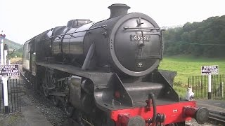 preview picture of video 'Black Five Steam Train 45337 Carrog to Glyndyfrdwy 13/09/14'