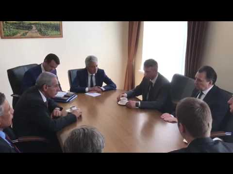 لقاء الوزير/طارق قابيل بوزير التجارة البيلاروسى