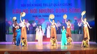 """Hội diễn nghệ thuật quần chúng """"Câu hò nối những dòng sông"""" tại Nghệ An"""