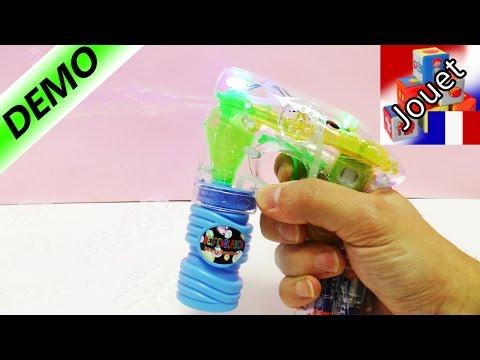 Pistolet à bulles de savon avec rayon lumineux! Tirer des bulles de savon lumineuses
