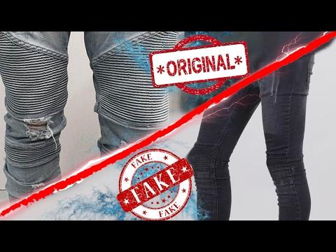 jeans biker original vs fake (SKINNY FIT,  diferencias) -VICTOR CABALLERO