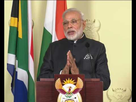 PM Modi's speech at the Joint Press Statements in Pretoria, South Africa