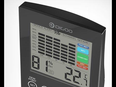 Digoo DG-TH2048 Temperature Humidity Detector - UNBOXING (by Banggood)