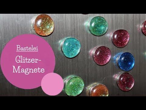 Glitzermagnete basteln | Magnete | Küchenmagnete | DIY Bastelanleitung | mommymade