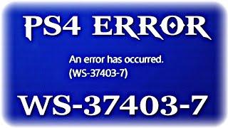 Erro ws-37403-7 ps4 Sony PlayStation - Самые лучшие видео