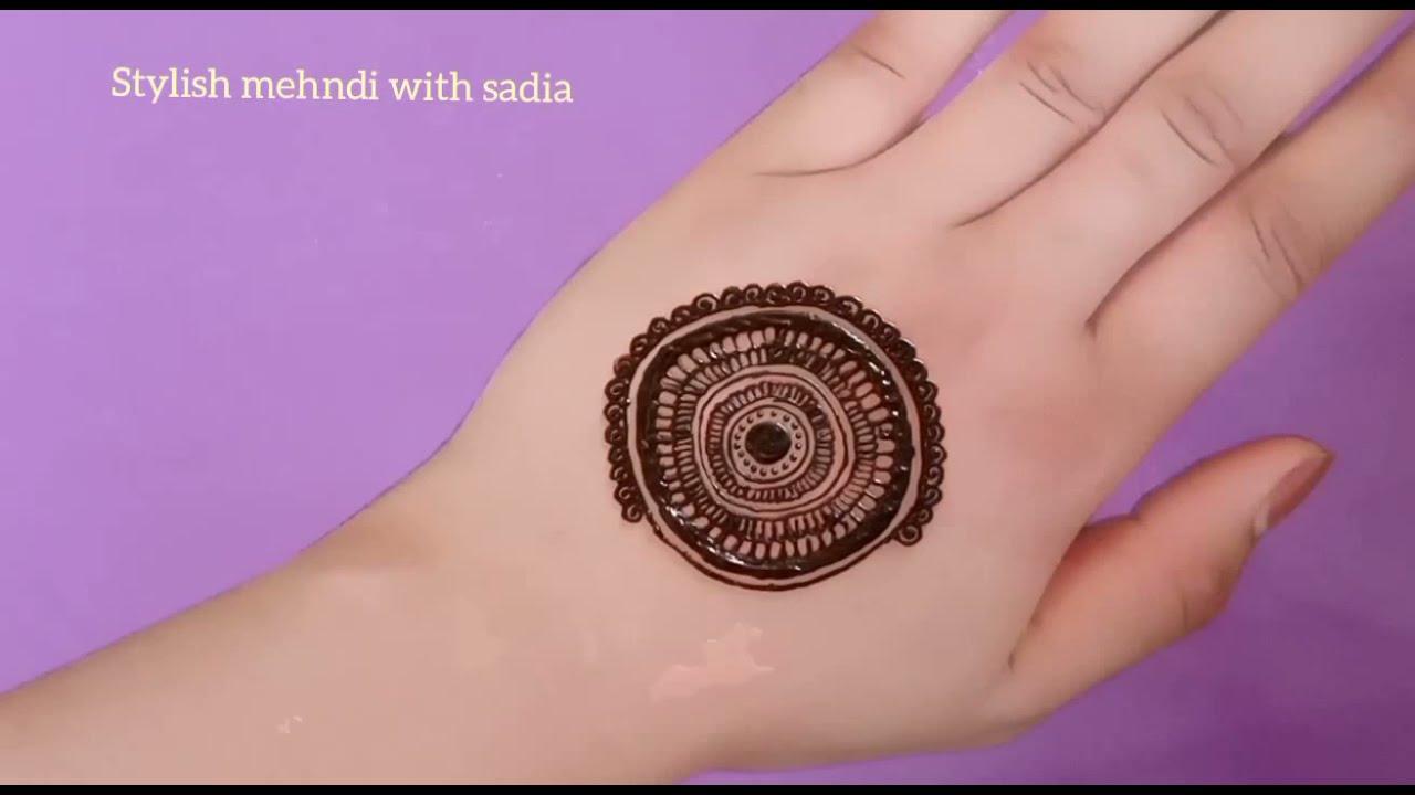 bridal mandala mehndi design for hands by sadia