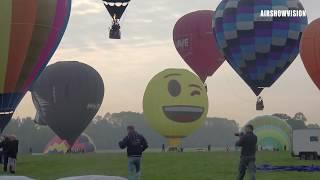 IMPRESSIVE HOT AIR BALLOON MASS ASCENT - MIDLAND AIR FESTIVAL 2019: ARBURY HALL