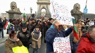 Антиправительственные демонстрации в Будапеште