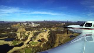 Visual Approach & Landing @ Asheville Regional Airport (KAVL)