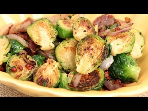 Brussels Sprouts with Onions & Pancetta Recipe – Laura Vitale – Laura in the Kitchen Episode 846