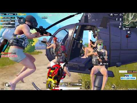 8 MAN IN 1 HELICOPTER   YOU WOULD HAVE NEVER SEEN Teamup   8 LOG EK HELICOPTER ME   PUBG MOBILE