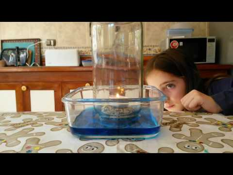 Experimento con el oxigeno
