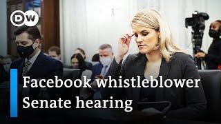 Watch live: Facebook whistleblower testifies to US Senate | DW News