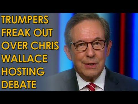 Trump supporters FURIOUS that Chris Wallace will Moderate Fox News Trump Biden Presidential Debate
