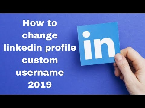 How to change linkedin profile custom username 2019