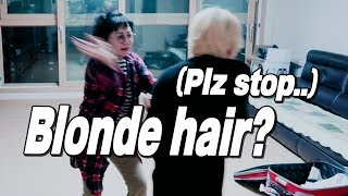 My Moms Reaction To My New Blonde Hair // 노란머리로 염색한 걸 본 엄마의 반응