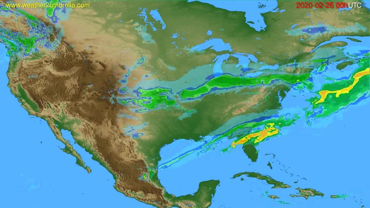 Radar forecast USA & Canada // modelrun: 12h UTC 2020-02-25
