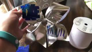 How To Make A Cheer Bow | Heat Transfer Cheer Bow