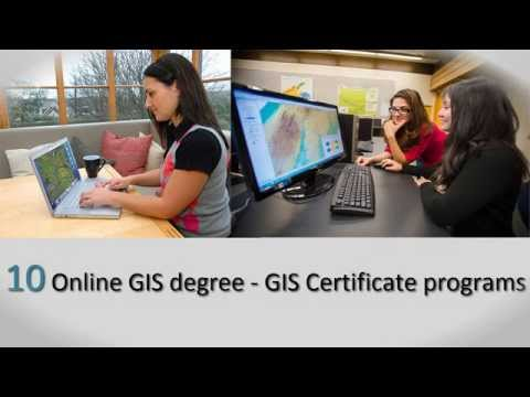 10 Online GIS degree and GIS Certificate programs - YouTube