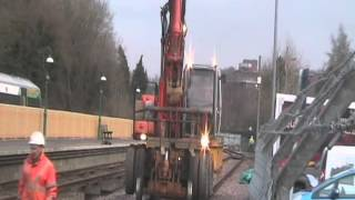 preview picture of video 'Making rails East Grinstead Station on the Bluebell Railway Northern Extension'