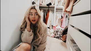 Organizing my closet again! vlogmas day 9!
