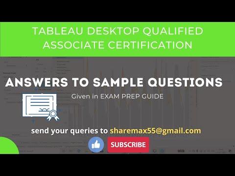Tableau Desktop Qualified Associate Certification Sample ...